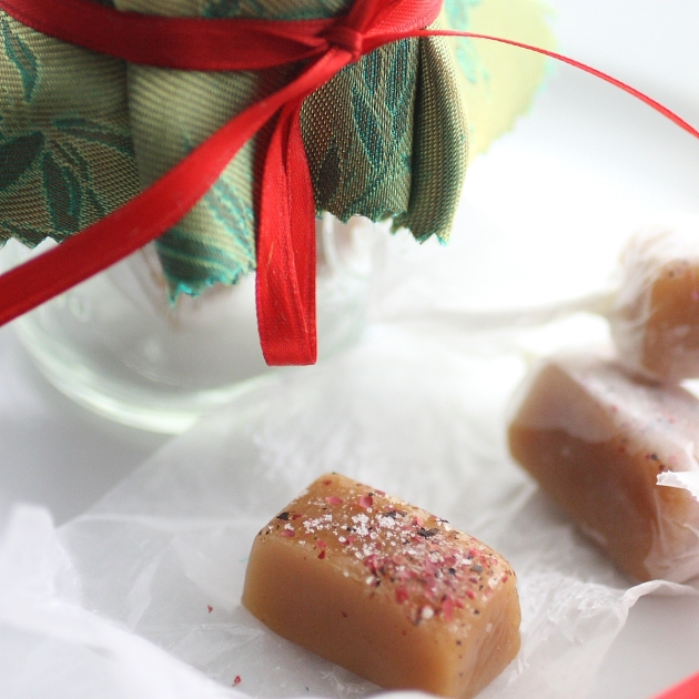 >Holiday gift ideas: Pink Peppercorn Sea Salt Caramels