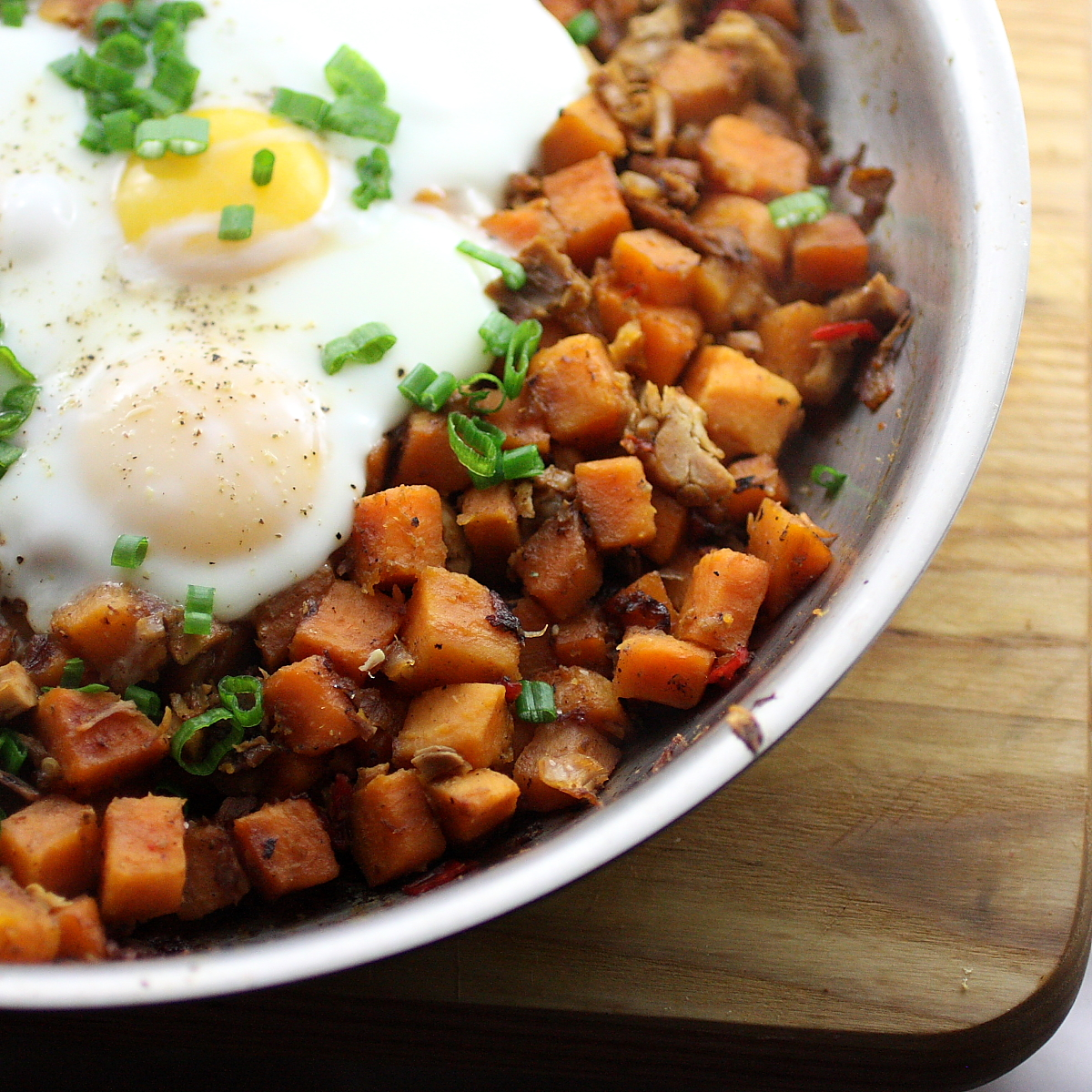 Turkey Sweet Potato Hash with Basted Eggs | life, in recipes