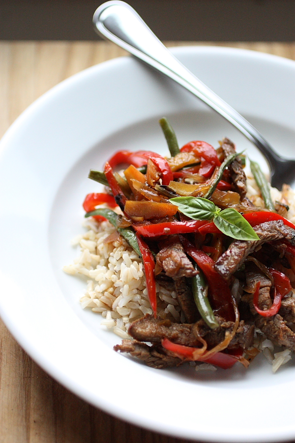 Dinner Improv: Basil Beef StirFry
