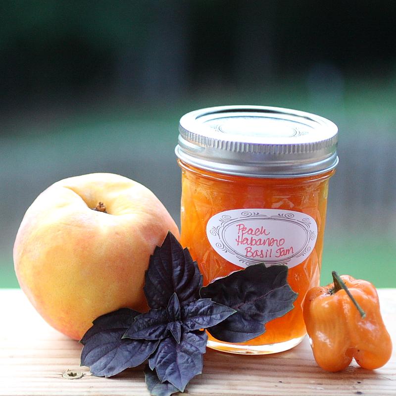 Peach Habanero BasilJam