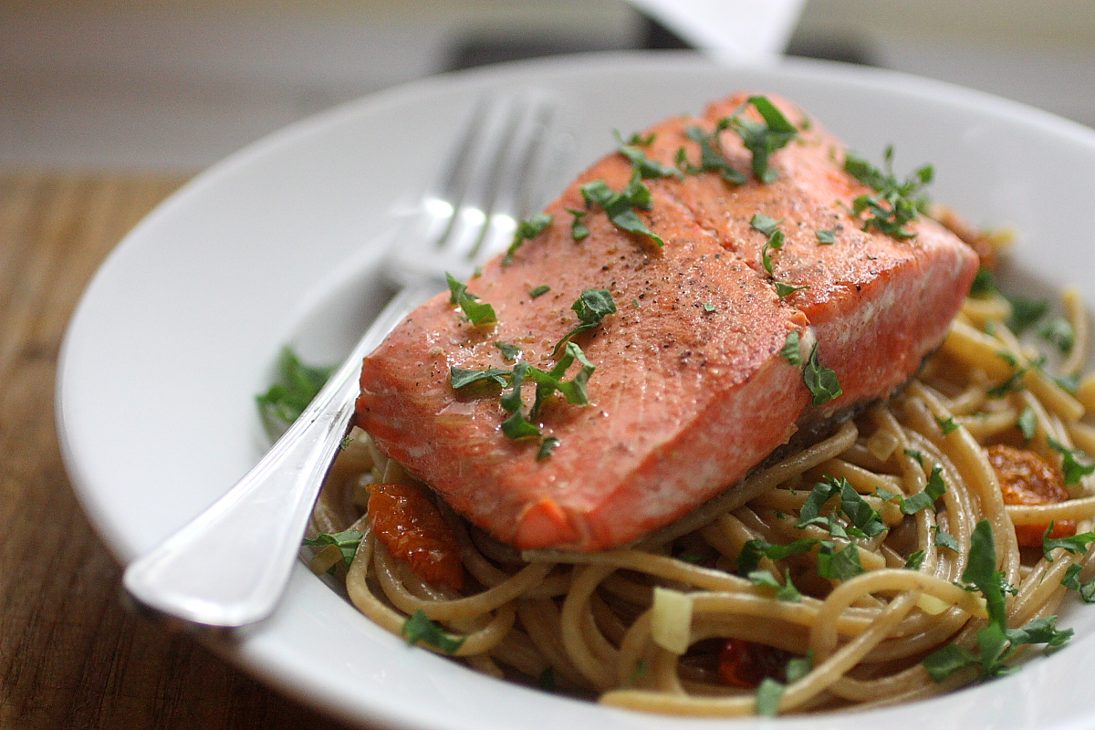 Sockeye Salmon with Whole Wheat Pasta | life, in recipes