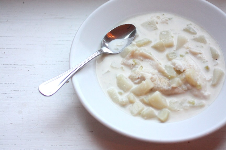 Wherein I am Not Mary Poppins.  Or Martha Stewart. {Fish Chowder}