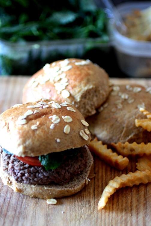hamburger fries